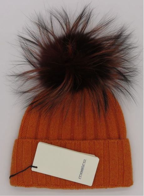 Orange with pompom Orange melange